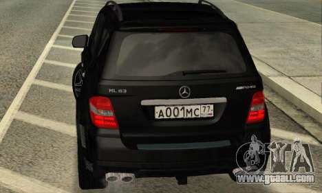 Mercedes-Benz ML 63 AMG for GTA San Andreas right view