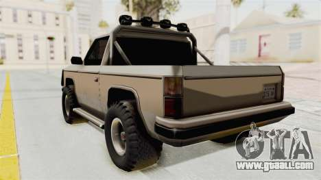 Rancher Style Bronco for GTA San Andreas left view