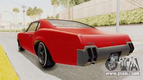 GTA 5 Declasse Sabre GT2 IVF for GTA San Andreas back left view