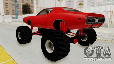 Dodge Charger 1971 Monster Truck for GTA San Andreas left view
