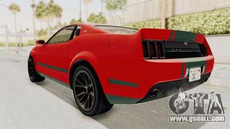 GTA 5 Vapid Dominator v2 SA Lights for GTA San Andreas back left view