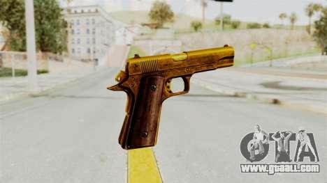 M1911 Gold for GTA San Andreas third screenshot