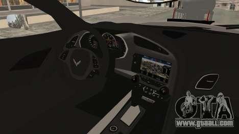 Chevrolet Corvette Stingray C7 Monster Truck for GTA San Andreas inner view