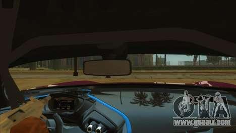 Aston Martin Vulcan 2016 for GTA San Andreas inner view