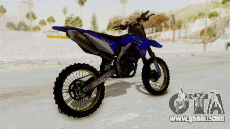 Suzuki RMZ 450 Gendarmerie v0.1 for GTA San Andreas left view