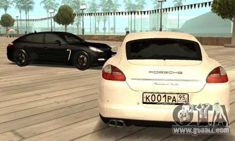 Porsche Panamera Turbo for GTA San Andreas inner view