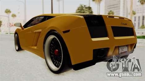 Lamborghini Gallardo 2005 for GTA San Andreas left view