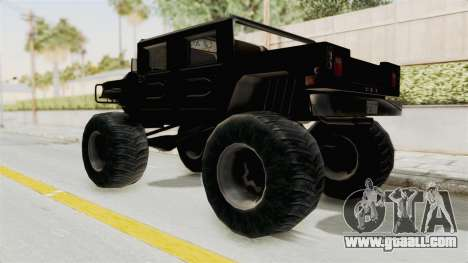 Hummer H1 Monster Truck TT for GTA San Andreas back left view