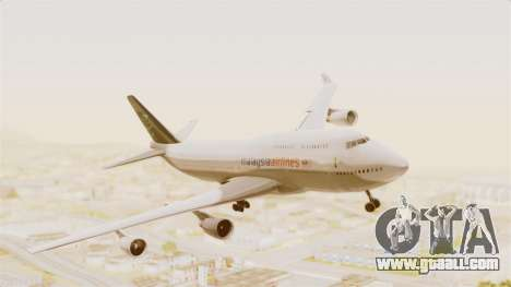 Boeing 747-400 Malaysia Airlines Tabung Haji for GTA San Andreas back left view