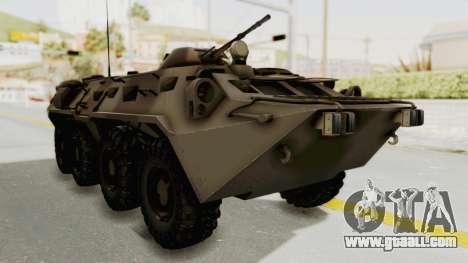 BTR-80 Desert Turkey for GTA San Andreas right view