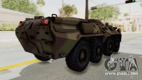 BTR-80 Desert Turkey for GTA San Andreas back left view