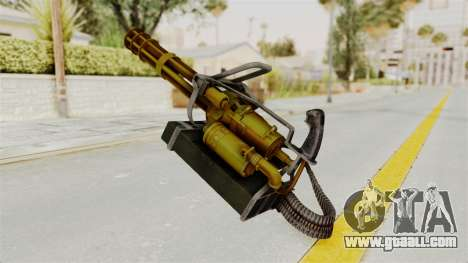 Minigun Gold for GTA San Andreas second screenshot