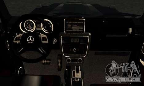 Brabus B65 for GTA San Andreas inner view