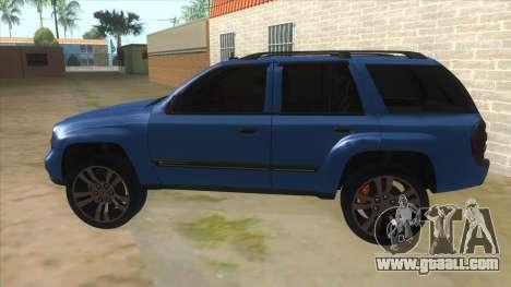 Chevrolet TrailBlazer for GTA San Andreas left view