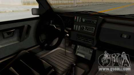 Volkswagen Golf 2 VR6 for GTA San Andreas inner view