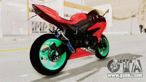 Kawasaki Ninja ZX-6R Highmodif for GTA San Andreas left view