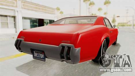 GTA 5 Declasse Sabre GT2 IVF for GTA San Andreas left view