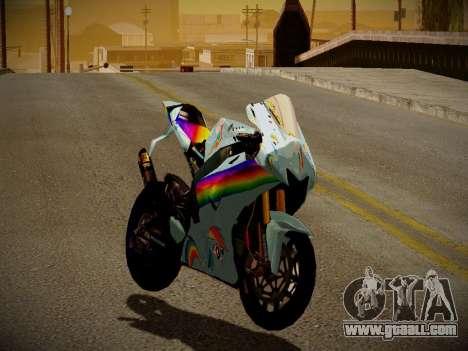 Yamaha YZR M1 2016 Rainbow Dash for GTA San Andreas left view