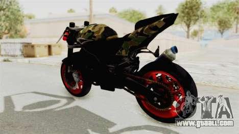 Kawasaki Ninja 250R Naked Camouflage for GTA San Andreas back left view