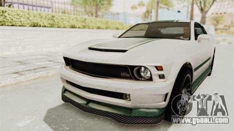 GTA 5 Vapid Dominator v2 IVF for GTA San Andreas upper view