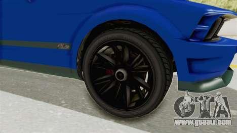 GTA 5 Vapid Dominator v2 IVF for GTA San Andreas back view