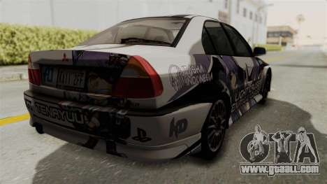 Mitsubishi Lancer Evolution VI Tenryuu Itasha for GTA San Andreas left view