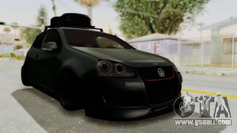 Volkswagen Golf MK5 JDM for GTA San Andreas back left view