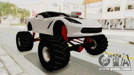 Chevrolet Corvette Stingray C7 Monster Truck for GTA San Andreas