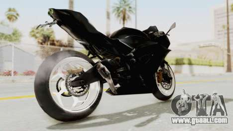Kawasaki Ninja 250RR Mono Sport for GTA San Andreas back left view
