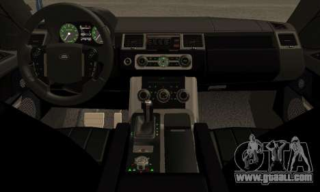 Range Rover Sport Tuning for GTA San Andreas back view
