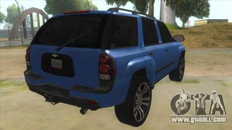 Chevrolet TrailBlazer for GTA San Andreas right view