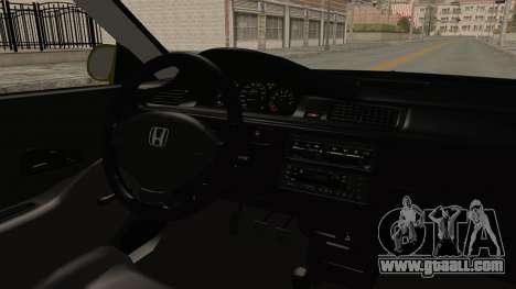 Honda Civic Fast and Furious for GTA San Andreas inner view