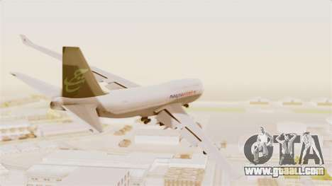 Boeing 747-400 Malaysia Airlines Tabung Haji for GTA San Andreas right view