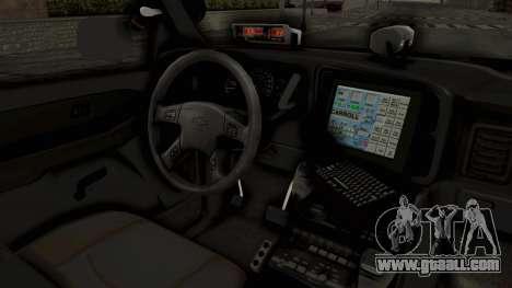 Chevrolet Suburban Indonesian Police RESMOB Unit for GTA San Andreas inner view