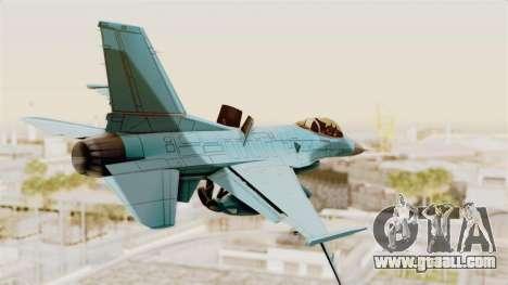 F-16 Fighting Falcon Civilian for GTA San Andreas left view