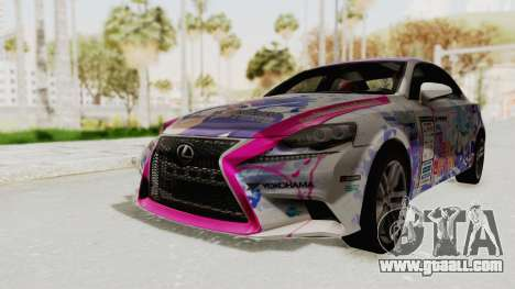 Lexus IS350 FSport Megami no Aqua for GTA San Andreas back left view