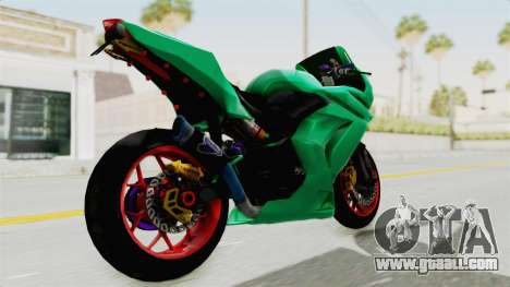 Kawasaki Ninja 250R Race for GTA San Andreas back left view