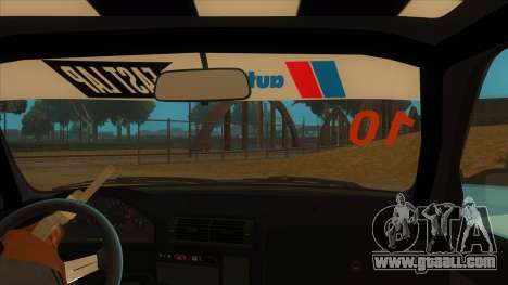 BMW 325i Turbo for GTA San Andreas inner view