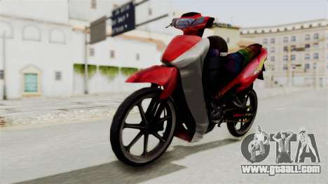 Suzuki RGX 120 for GTA San Andreas right view