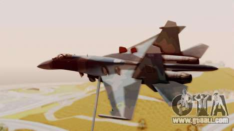 Sukhoi SU-27 Flanker A Ukrainian Air Force for GTA San Andreas left view