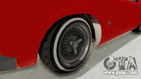 GTA 5 Declasse Sabre GT2 IVF for GTA San Andreas back view