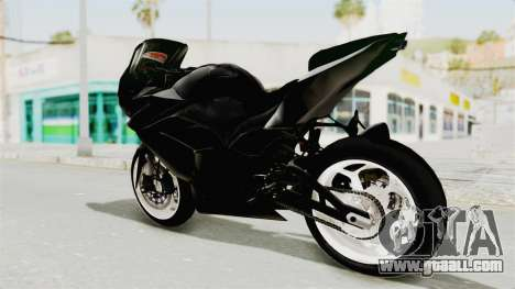 Kawasaki Ninja 250R Black Cobra RnB Anak Jalana for GTA San Andreas left view