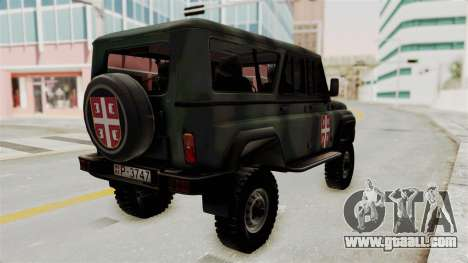 UAZ-3153 Hunter Serb forces for GTA San Andreas right view