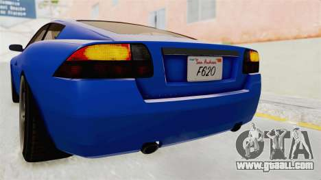 GTA 5 Ocelot F620 IVF for GTA San Andreas interior