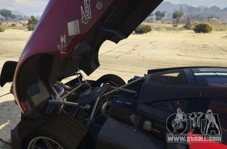 GTA 5 2016 Pagani Huayra BC rear right side view