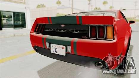 GTA 5 Vapid Dominator v2 SA Lights for GTA San Andreas bottom view