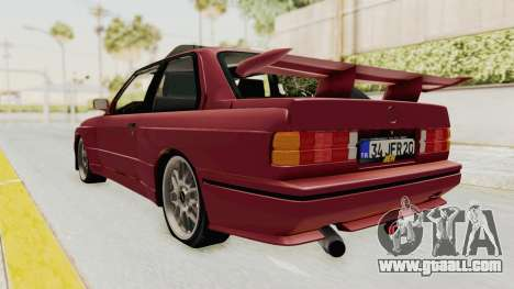 BMW M3 E30 1988 for GTA San Andreas back left view