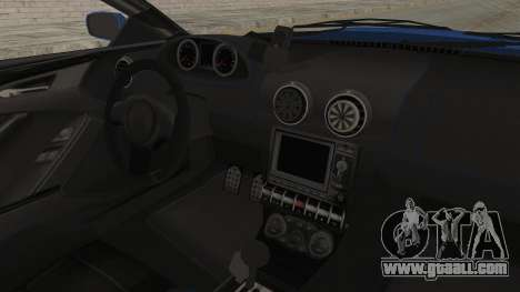 GTA 5 Ocelot F620 IVF for GTA San Andreas inner view