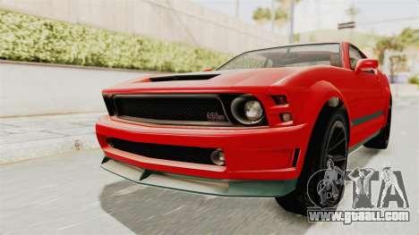 GTA 5 Vapid Dominator v2 SA Lights for GTA San Andreas right view