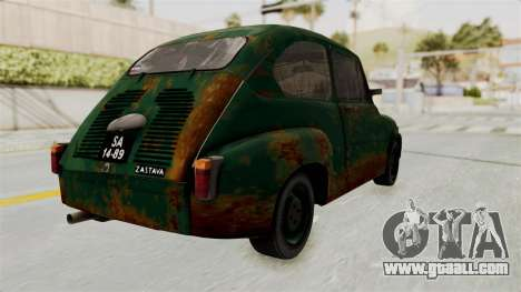 Zastava 750 Rusty for GTA San Andreas left view